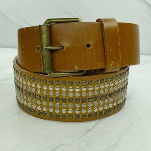 Divided 75 by H&M Wide Studded Brown Boho Belt S